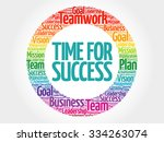 time for success circle stamp... | Shutterstock .eps vector #334263074