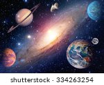astrology astronomy earth moon... | Shutterstock . vector #334263254
