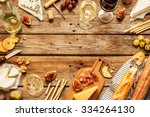 different kinds of cheeses ... | Shutterstock . vector #334264130