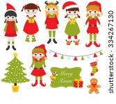set of images of kids | Shutterstock .eps vector #334267130