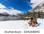early winter in glacier... | Shutterstock . vector #334268840