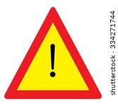 hazard warning sign | Shutterstock .eps vector #334271744