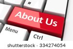 about us key on the computer... | Shutterstock . vector #334274054