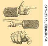 hands  fingers. design set.... | Shutterstock .eps vector #334274150