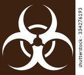 biohazard symbol glyph icon.... | Shutterstock . vector #334276193