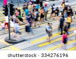 busy pedestrian crossing at...   Shutterstock . vector #334276196