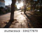 defocused image of autumn city...   Shutterstock . vector #334277870