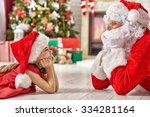 Santa Claus And Cute Girl...