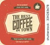 retro vintage coffee background ... | Shutterstock .eps vector #334283678