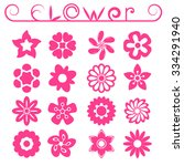 flower ornaments set  16 floral ... | Shutterstock .eps vector #334291940