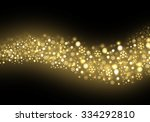 golden defocused snowflakes ... | Shutterstock . vector #334292810