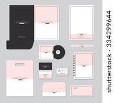 stationary template design.... | Shutterstock .eps vector #334299644