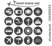 travel and transportation icons ... | Shutterstock .eps vector #334300553