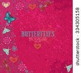 Butterflies. Vector Background...