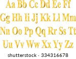 english alphabet golden letters ... | Shutterstock .eps vector #334316678