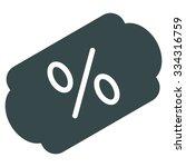 discount label glyph icon.... | Shutterstock . vector #334316759