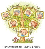 family tree in pictures  little ... | Shutterstock .eps vector #334317098