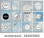 set of 12 creative cards ... | Shutterstock .eps vector #334325003
