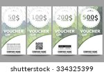 set of modern gift voucher... | Shutterstock .eps vector #334325399