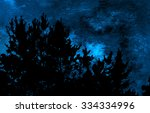 Moonlit Night Landscape With...