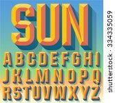 vector 3d summer condense... | Shutterstock .eps vector #334335059