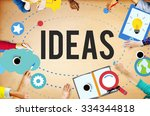 ideas inspiration think... | Shutterstock . vector #334344818