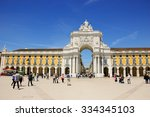 lisbon  portugal   april 22 ... | Shutterstock . vector #334345103