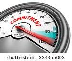 commitment to hundred per cent... | Shutterstock . vector #334355003