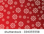 snowflakes on red background  ...   Shutterstock . vector #334355558