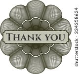 thank you abstract rosette | Shutterstock .eps vector #334358624