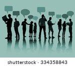 interaction people social... | Shutterstock . vector #334358843