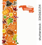 happy thanksgiving day greeting ... | Shutterstock .eps vector #334363154