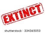extinct red stamp text on white | Shutterstock .eps vector #334365053
