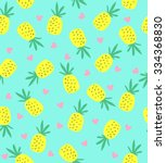 seamless pineapple pattern. ... | Shutterstock .eps vector #334368830