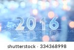 2016 greting and christmas... | Shutterstock . vector #334368998