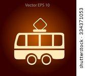flat tram icon. vector   Shutterstock .eps vector #334371053