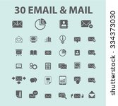 email  message  mail  icons ... | Shutterstock .eps vector #334373030