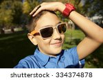 a close up portrait of a... | Shutterstock . vector #334374878