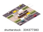 vector isometric icon or... | Shutterstock .eps vector #334377383