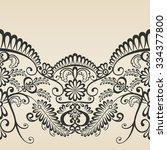 ornament decoration   baroque... | Shutterstock .eps vector #334377800