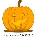 jack o lantern halloween... | Shutterstock .eps vector #334382210