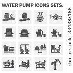 vector icon of water pump... | Shutterstock .eps vector #334383188