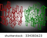 arrow up and down abstract bg | Shutterstock .eps vector #334383623