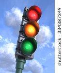 Traffic Lights On Crossroads ...