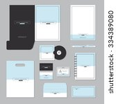 stationary template design.... | Shutterstock .eps vector #334389080