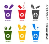 trash categories. recycle... | Shutterstock .eps vector #334391579