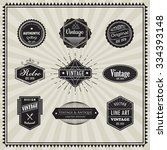 set of retro vintage badge... | Shutterstock .eps vector #334393148
