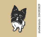 yorkshire terrier   vector... | Shutterstock .eps vector #334393829
