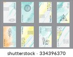 set of 8 creative universal... | Shutterstock . vector #334396370