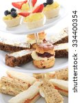 Small photo of afternoon tea cake sandwich selectio